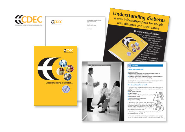Logotype, Stationery, Booklets, Advertising and Posters for Cornwall Diabetic Education Centre